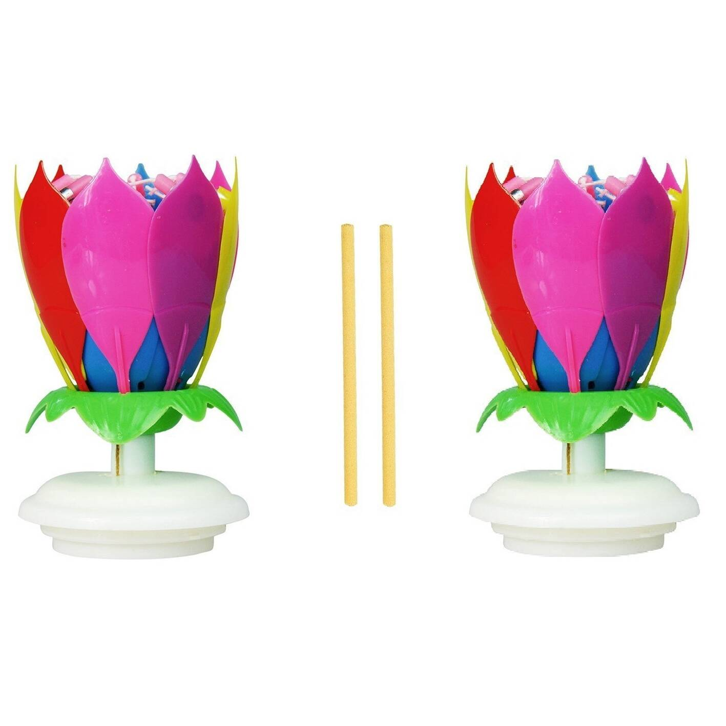 Amazing Lotus Flower Happy Birthday Exciting Candle